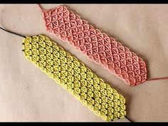 pulseras de hilo anchas faciles de hacer parte 1 - YouTube