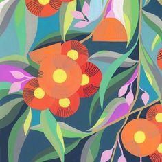 Down the Street shop. Botanical Art, Botanical Illustration, Flower Prints, Flower Art, Gravure Illustration, Australian Native Flowers, Arte Pop, Gouache Painting, Illustrations