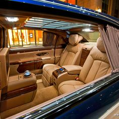 I would like to ride in one these Battleships once, just for the experience. 2012 Maybach 62 rear cabin...LEG ROOM!