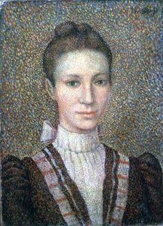 Titre de l'image : Georges Lemmen - Head and Shoulders of a Young Girl