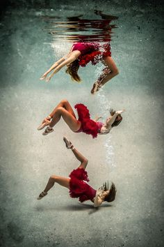 by Erika Thornes [underwater photography] [red dress] Underwater Photoshoot, Underwater Model, Underwater Art, Underwater Plants, Underwater Animals, Underwater Creatures, Dance Photography, Underwater Photography, White Photography