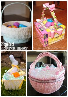 Make easter basket from yarn this is a super project to doing 25 easter basket tutorials u create negle Gallery