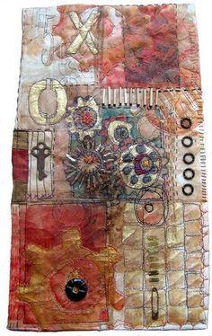 teabag + mixed media = amazing wonderful artwork by Jane LaFazio textile art, Tea Bag Art, Tea Art, Textile Fiber Art, Textile Artists, Textile Tapestry, Fabric Art, Fabric Crafts, Canvas Fabric, Tee Kunst