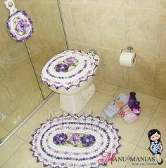 Jogo de Banheiro Flor Segredo Lilás