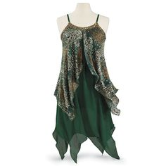 Forest Nymph Dress - New Age, Spiritual Gifts, Yoga, Wicca, Gothic, Reiki, Celtic, Crystal, Tarot at Pyramid Collection