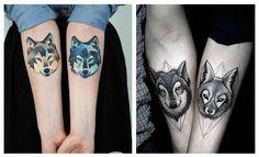 Tatuajes de lobos para parejas