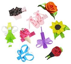 HipGirl 9pc Set Hip Girl Hair Bow Clips, Ladybug, Butterfly, Ballet Shoes, Fairy etc HipGirl http://www.amazon.com/dp/B00AAHY05O/ref=cm_sw_r_pi_dp_TKzCwb04XBER8