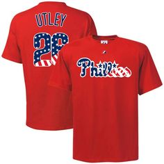 ed0cd1289 Majestic Philadelphia Phillies Youth #26 Chase Utley Red Stars & Stripes  Player T-shirt