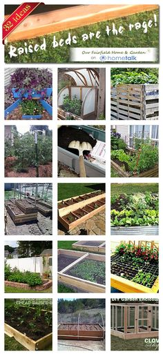 Click the image to see more  ideas! -- 32 Ideas for raised beds