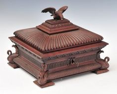 Classical Revival Walnut Jewelry Box