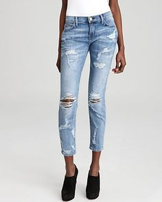 089d222fdd3d Current Elliott Jeans - The Stiletto in Shredded Women - Contemporary -  Bloomingdale s