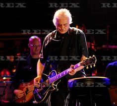 Jimmy Page in concert with Donovan, Royal Albert Hall, June 3, 2011.