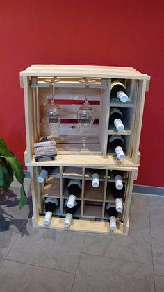 Weinregale - Weinkisten, Weinregal, Holzkiste, Regal, Hausbar - ein Designerstück von Kistenherbert bei DaWanda