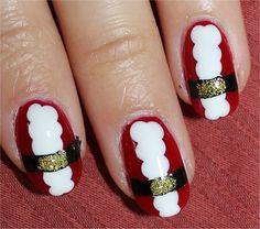 Santa Suit Nails.