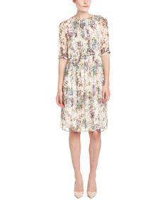 MAX MARA MAX MARA STUDIO SILK A-LINE DRESS'. #maxmara #cloth #dresses