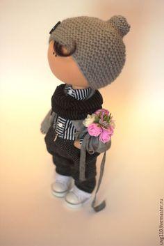 Купить Интерьерная кукла - серый, интерьерная кукла, интерьерная игрушка, кукла, кукла мальчик