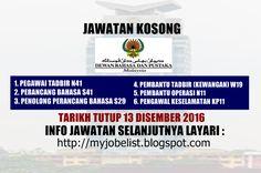 Jawatan Kosong Dewan Bahasa dan Pustaka (DBP) - 13 Disember 2016  Jawatan kosong kerajaan terkini di Dewan Bahasa dan Pustaka (DBP) Disember 2016 | Jawatan kosong terkini di Dewan Bahasa dan Pustaka (DBP) Disember 2016. Permohonan adalah dipelawa daripada warganegara Malaysia yang berkelayakan untuk mengisi kekosongan jawatan kosong terkini di Dewan Bahasa dan Pustaka (DBP) sebagai :1. PEGAWAI TADBIR N412. PERANCANG BAHASA S413. PENOLONG PERANCANG BAHASA S294. PEMBANTU TADBIR (KEWANGAN)…