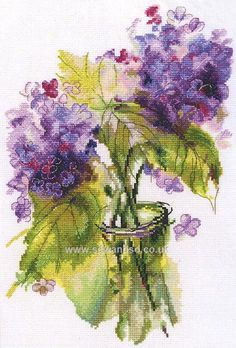 Buy+Inflorescences+of+Hydranger+Cross+Stitch+Kit+Online+at+www.sewandso.co.uk