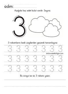 Preschool Workbooks, Numbers Preschool, Learning Numbers, Preschool Curriculum, Writing Numbers, Preschool Lessons, Preschool Math, Kindergarten Activities, Learning Activities