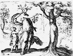 LIBRO IX - Driope - Titolo dell'opera: Driope in arboris formam transmigrat Autore: Antonio Tempesta Datazione: 1606 Collocazione: Londra, British Museum Committenza: Tipologia: stampa Tecnica: incisione su rame, 97x115 cm Soggetto principale: Driope Soggetto secondario: Personaggi: Driope, Anfisso, Lotide in forma di albero Attributi: fronde sulla testa (Driope); gocce di sangue dal ramo spezzato (Lotide in forma d'albero) Contesto: riva di un lago