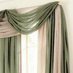 Jcp Home Sensations Rod Pocket Semi Sheer Scarf Valance Jcpenney Window