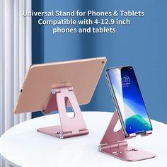 SmartDevil 2020 Support Tablette Téléphone Bureau Réglable et Pliable Support Dock Compatible avec iPhone 11 Pro Max 11 X 7, Pad Pro 2019, Pad Air, Pad Mini, Huawei, Samsung, Nintendo Switch-Or Rose: Amazon.fr: Informatique