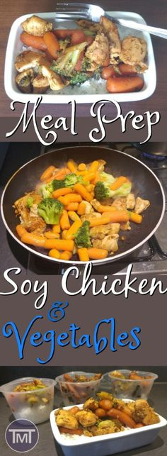 Meal Prep Soy Chicken and vegetables - easy, delicious and healthy. lunch or dinner meal that is freezable and suitable for the fridge and ready in under 30 minutes! A great option for newbie meal preppers. Clean Eating Recipes, Lunch Recipes, Easy Dinner Recipes, Real Food Recipes, Healthy Recipes, Eating Healthy, Delicious Recipes, Healthy Food, Prepper Food