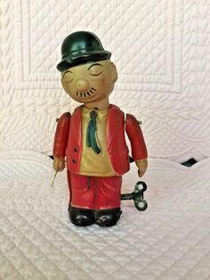 Wimpy Popeye Celluloid Wind up toy/ebay