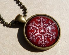 Christmas Necklace Christmas Jewelry Snowflake by bluerosebeadery Christmas Necklace, Christmas Jewelry, Resin Crafts, Pocket Watch, Snowflakes, Accessories, Projects, Pocket Watches, Snow Flakes