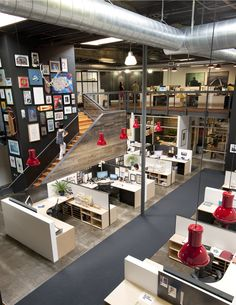 open office & huge pendants