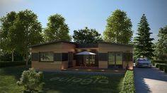Maison ossature bois contemporaine - Plain pied - 125 m2