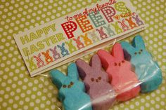 We love our PEEPS! Easter treat bags using PEEPS great for preschool treats or teachers
