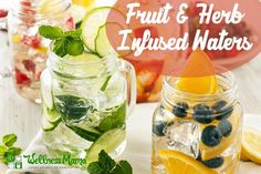 Fruit and Herb Infused Water Recipes Herb & Fruit Infused Water Recipes @WellnessMama