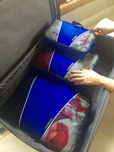 Packing with NeatPack luggage cubes.... Great gear and great durable material. Not flimsy yet lightweight