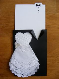 Wedding Card, Mr and Mrs, Bride and Groom Congratulations Card, Tuxedo - Wedding Gown Card, to my daughter on her wedding day Wedding Cards Handmade, Handmade Birthday Cards, Diy Wedding, Wedding Gifts, Wedding Day, Tuxedo Wedding, Wedding Quotes, Wedding Shower Cards, Dress Card