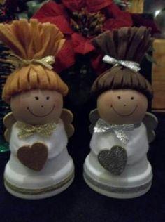 Clay Pot Christmas Angels by jordan