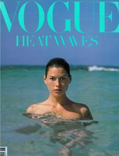 Vogue, July 1989. Carre Otis on the cover.