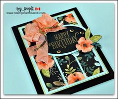 Happy Birthday Gorgeous and the Whole Lot of Love Designer Paper from Stampin Up, card by Sandi @ stampinwithsandi.com