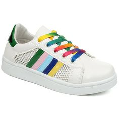 $15.10 Leisure Women's Athletic Shoes With Striped and Splicing Design