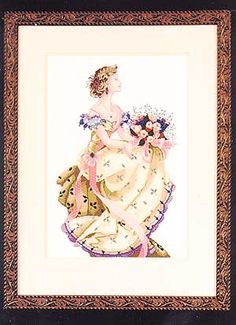 Spring Queen - Mirabilia Cross Stitch  I've just taken this to be framed