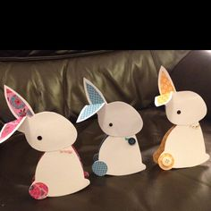 Bunny family of Easter cards