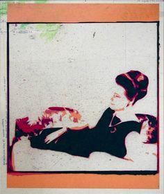 «Les archives de Monsieur X», Oostduinkerke Hiver 67 maman coiffure 2004-2005, 48 x 56 cm, collage sur transparents espacé