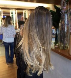 Brown to blonde ombré ok transition
