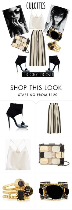 """""""Chic & Cool"""" by traci-carnes ❤ liked on Polyvore featuring Etienne Deroeux, Sondra Roberts, Eddie Borgo, Mela Artisans, TrickyTrend and culottes"""