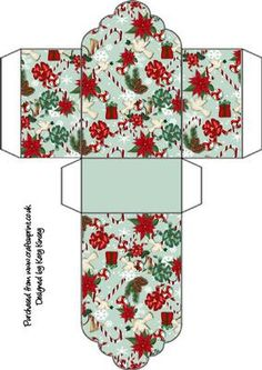 - A pretty christmas patterned gift box for your gifts Christmas Barbie, Christmas Minis, Christmas Gift Tags, Christmas Wrapping, Inexpensive Christmas Gifts, Christmas Crafts To Make, Miniature Christmas, Origami, Gift Card Boxes