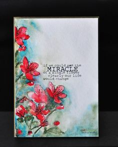 Stamp of the Week - Single Flower Miracle- Unity Stamp Co