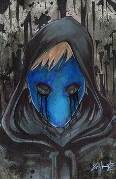 Eyeless Jack Creepypasta Poster Print                              …