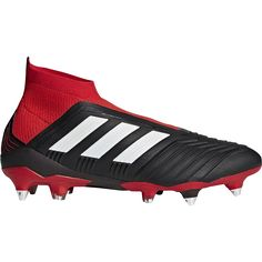 afb4e29b80 adidas Predator 18+ SG Soft Ground Soccer Cleat Black White Red-10.5