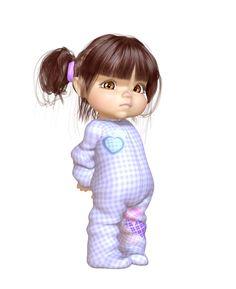 "Photo from album ""Time to sleep"" on Yandex. Sweet Drawings, Baby Barbie, Anime Girl Neko, Baby Drawing, Kids Logo, Wallpaper Iphone Cute, Baby Scrapbook, Cute Images, Cute Little Girls"