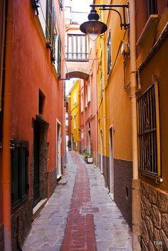 Street in Manarola, Italy